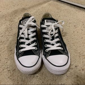 Just as NEW black low top Converse